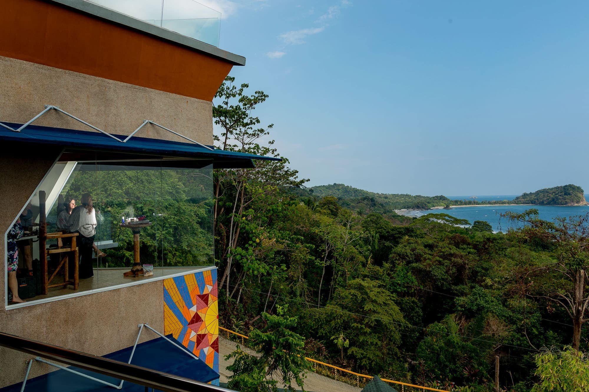 Getting ready in a room with an epic view in the villa Punto de Vista