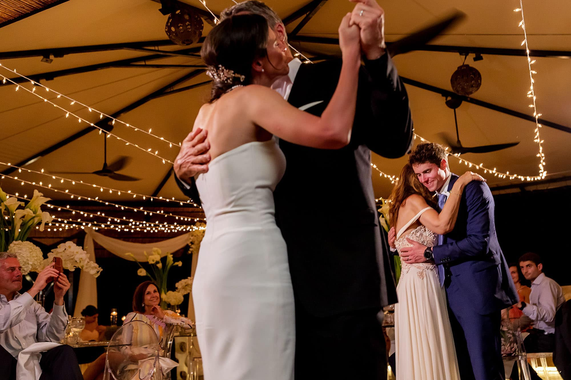 Dancing with dad and mom