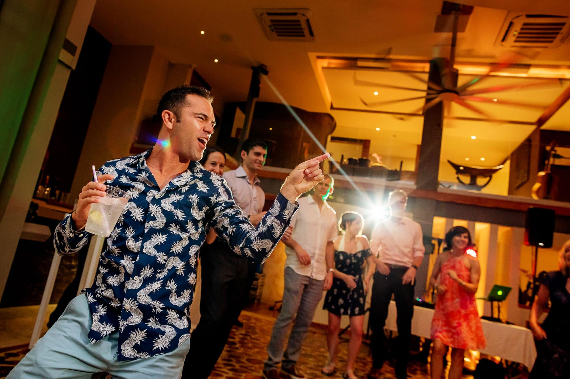 Getting married in a private villa means dancing the night away
