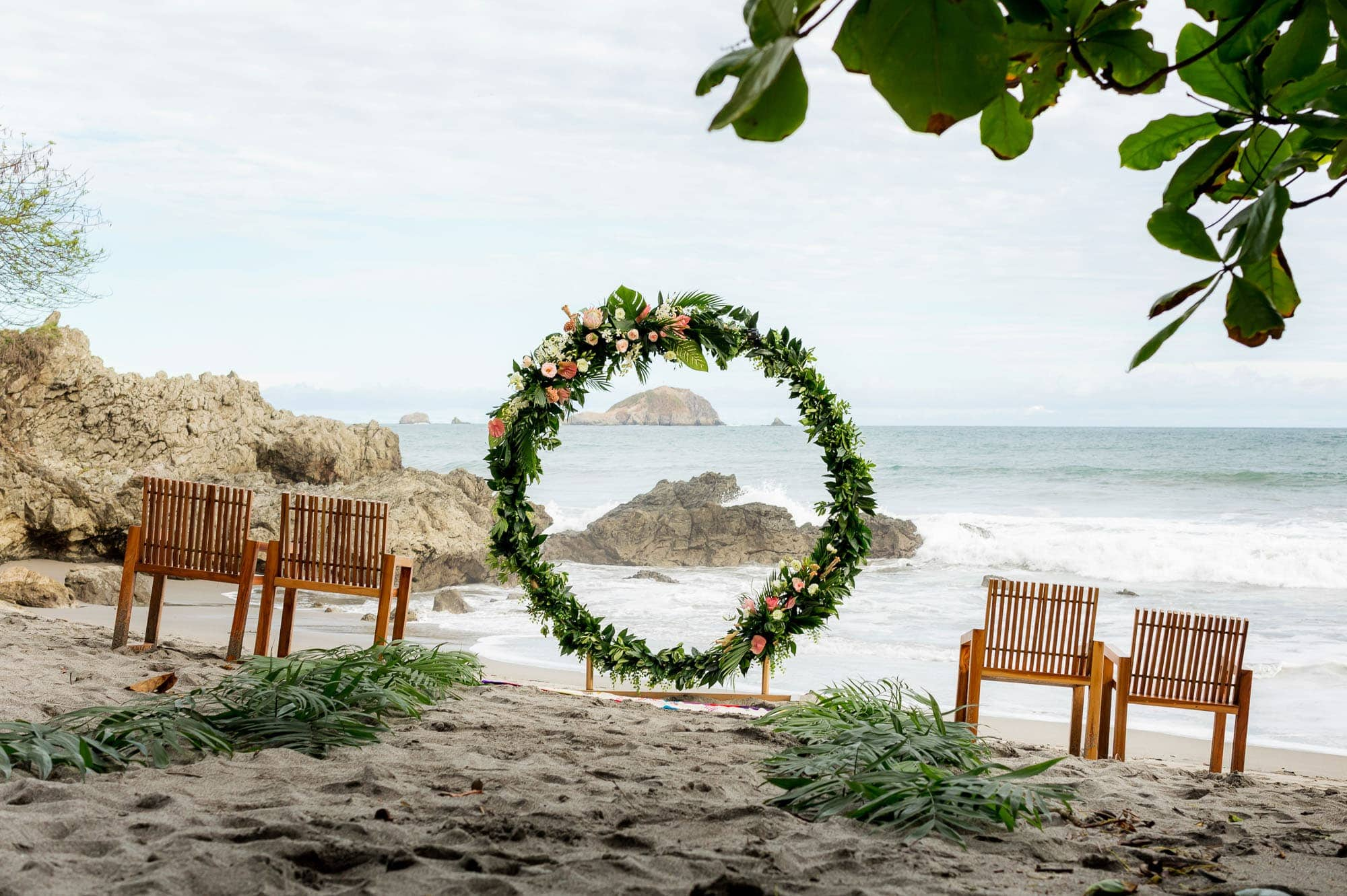 The lovely ceremony site