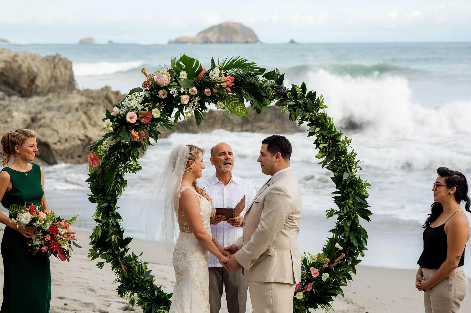 Ceremony shot - check out those waves!