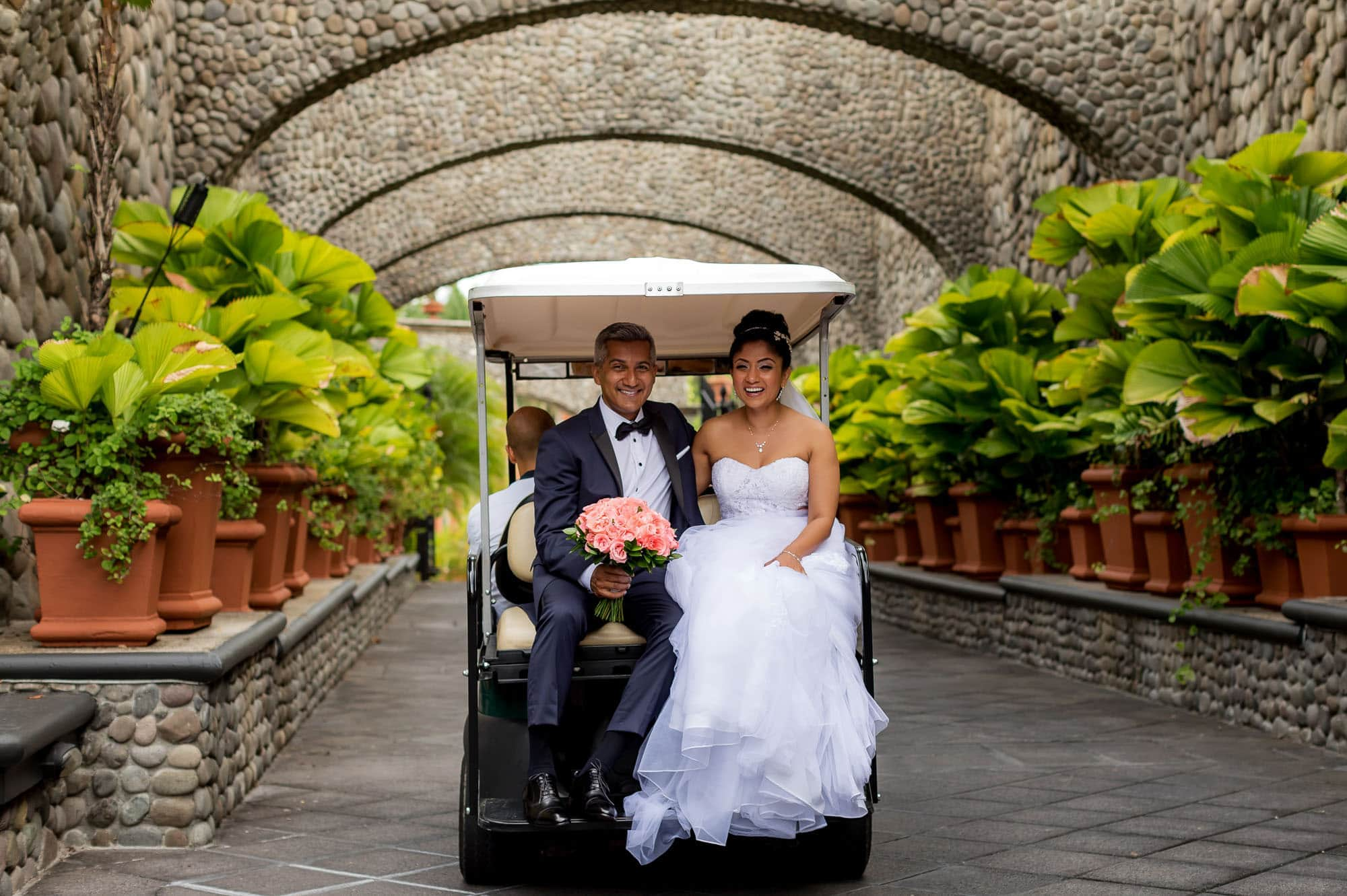 Heading to the symbolic wedding ceremony