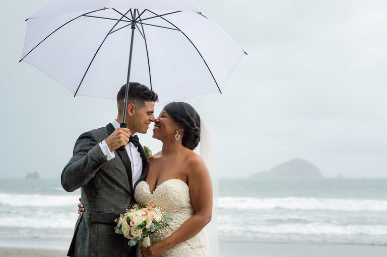 Couple on the beach: a timeless wedding venue idea