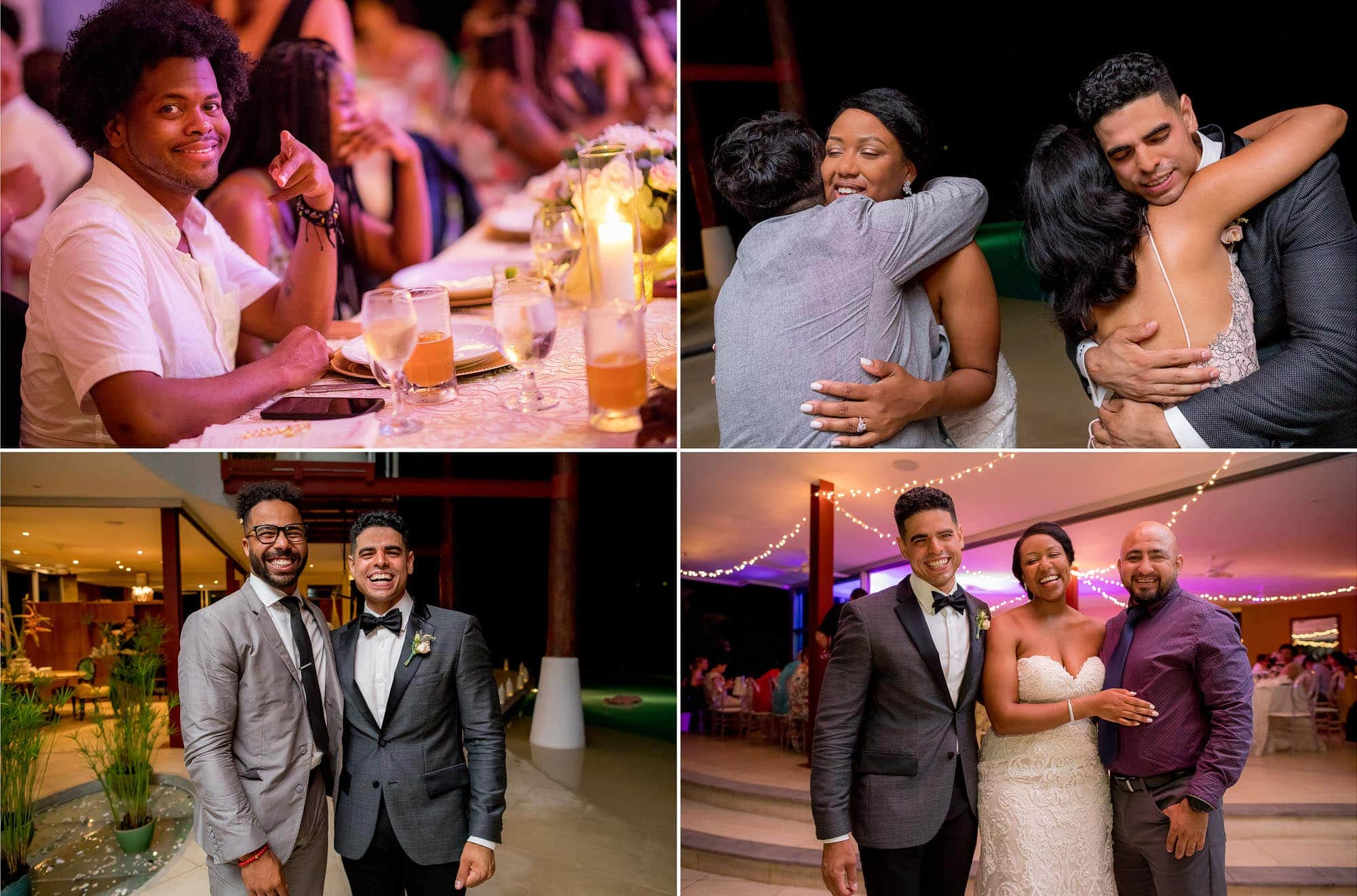 Special moments during the reception