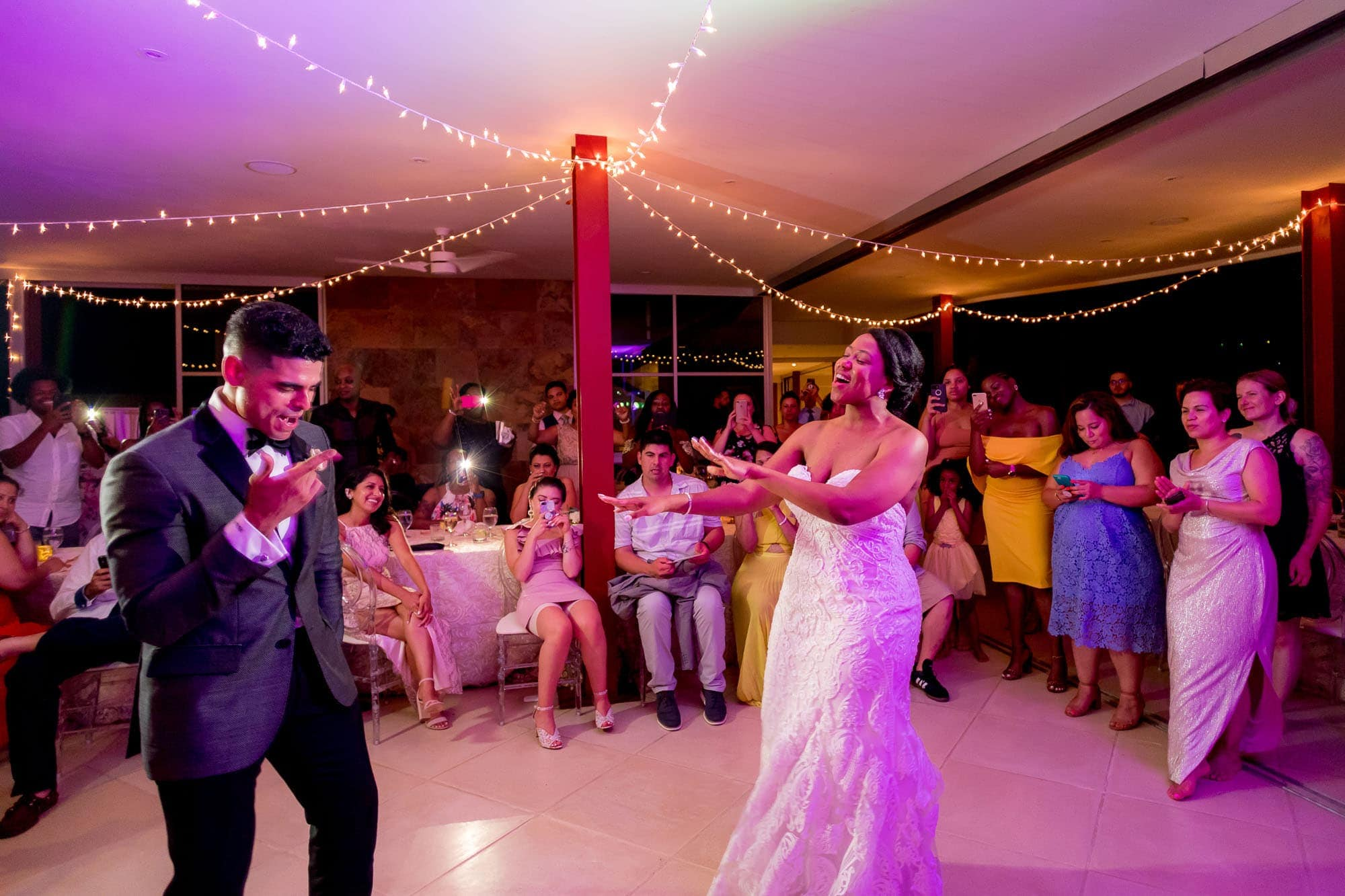Best dance party ever! The bride and groom tearing it up