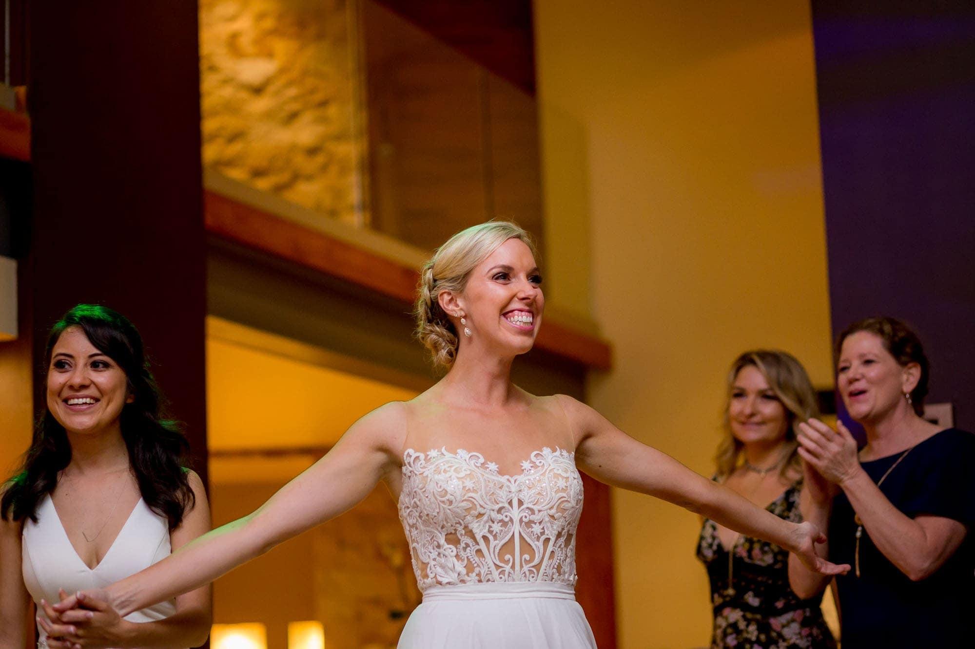 Brides presented at reception