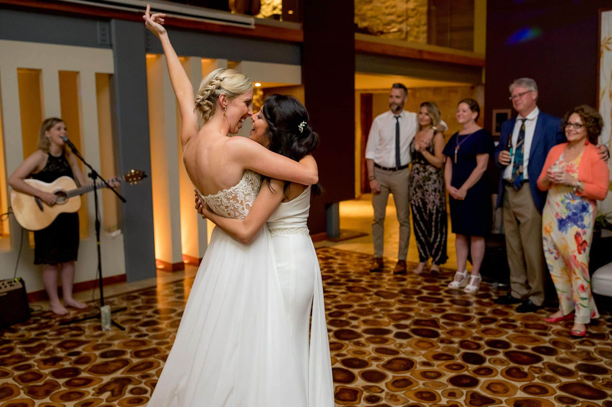 bride and bride first dance