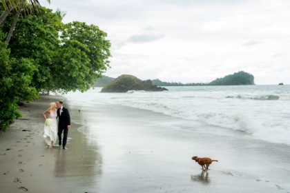 Unique wedding bridal portraits on the beach