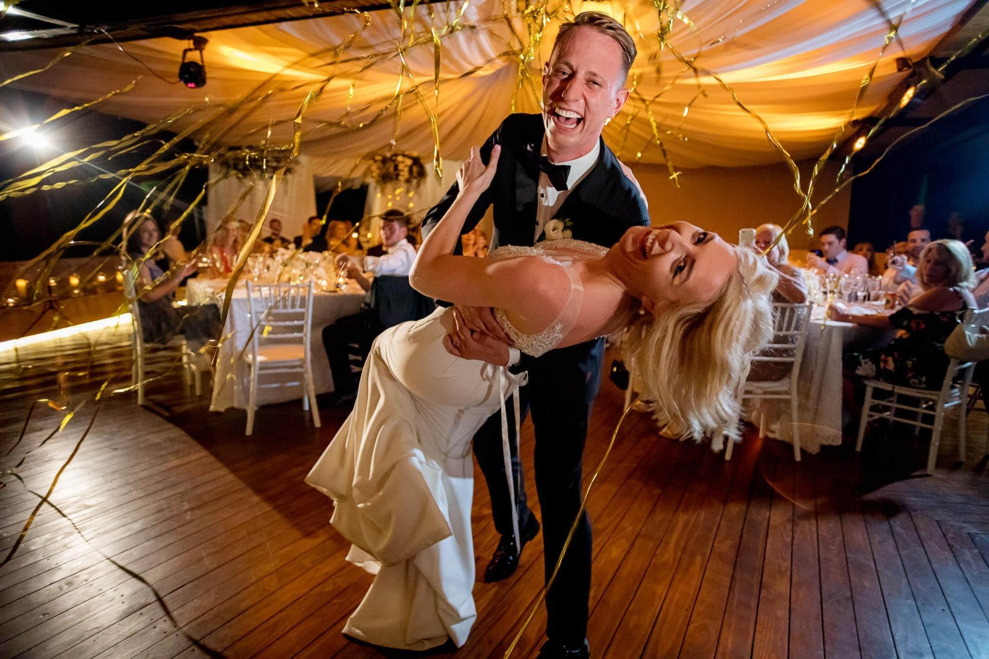 A unique wedding dance from a unique angle