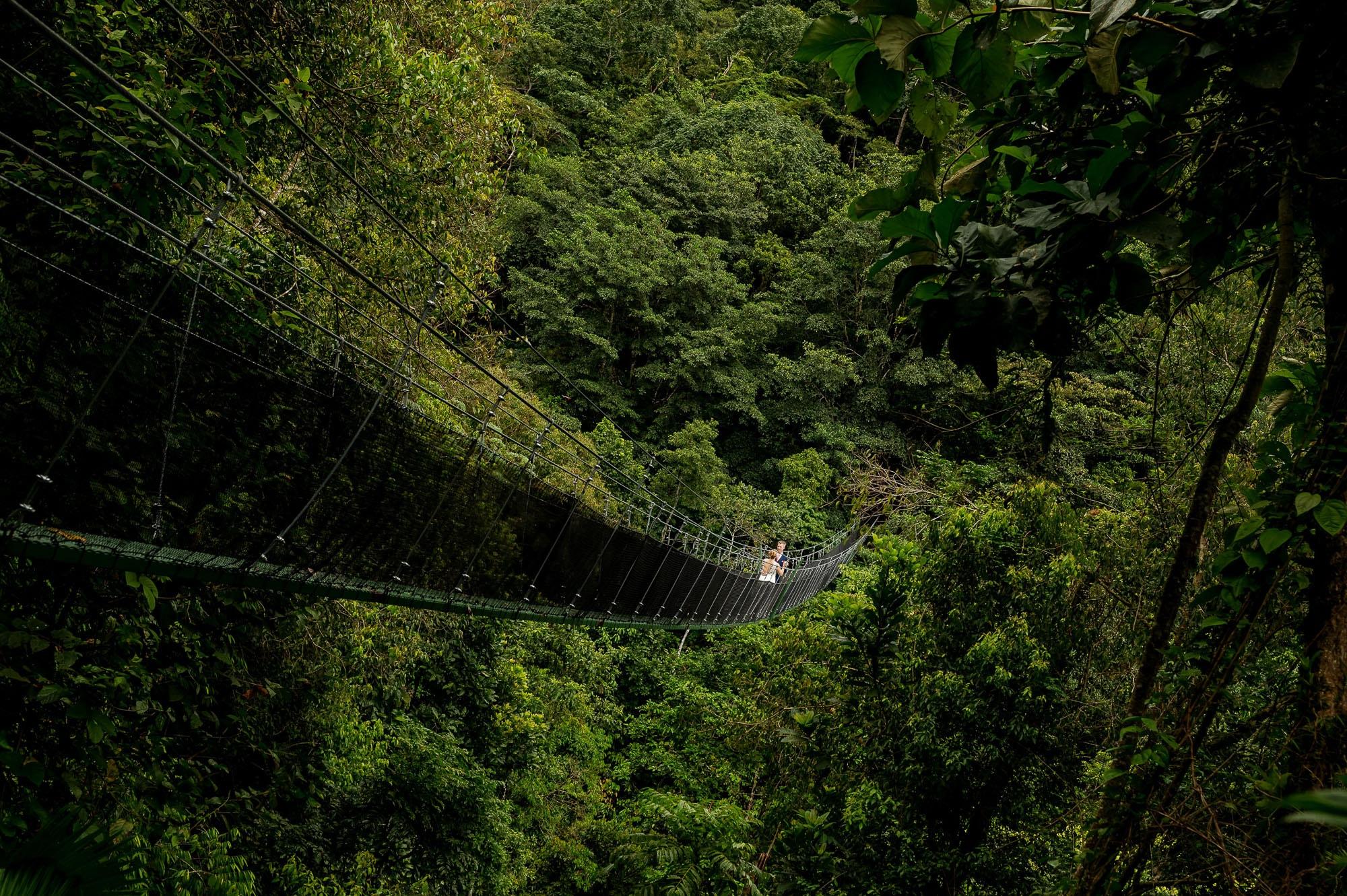 wedding suspension bridge
