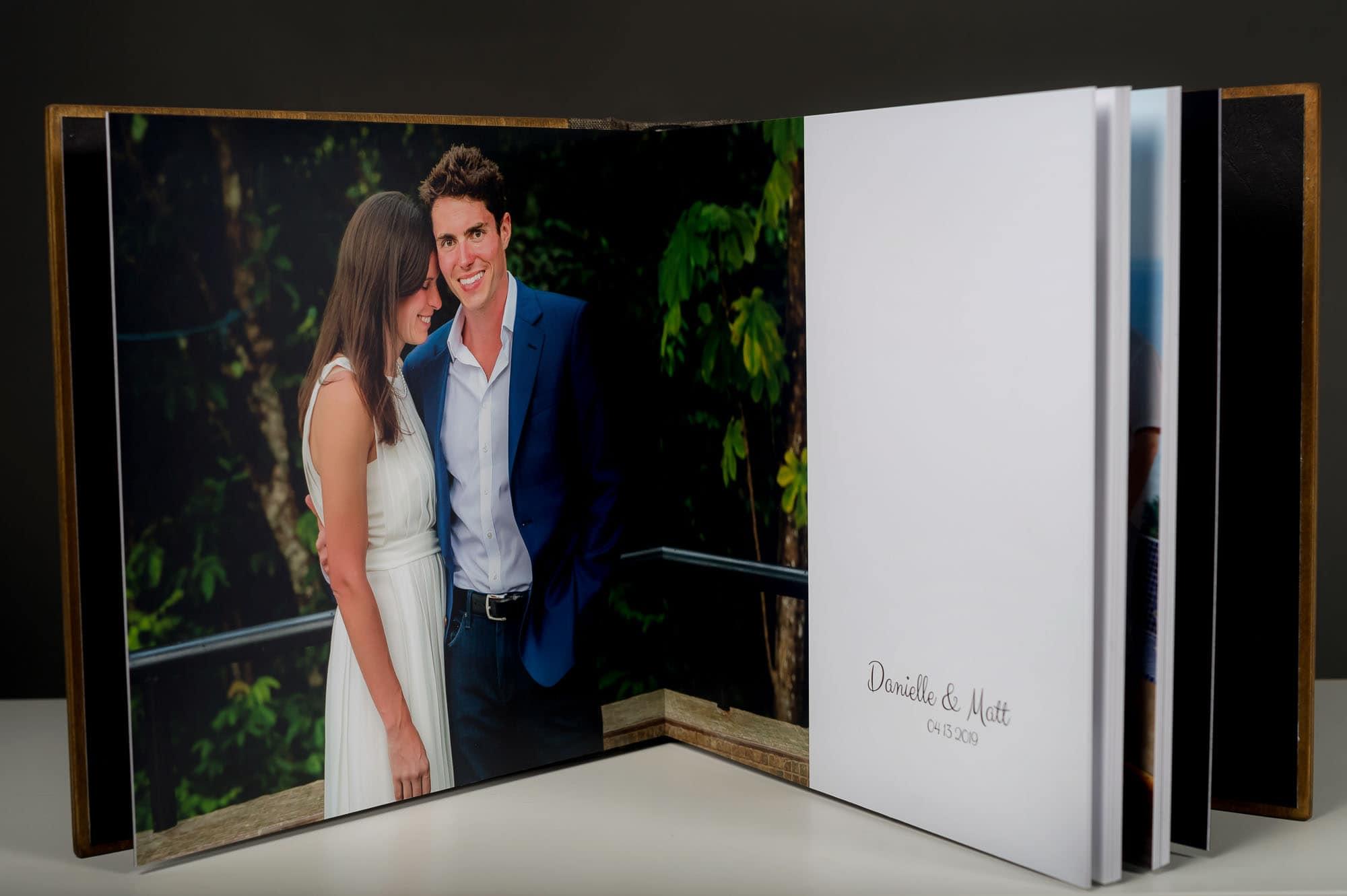 handcrafted wedding album