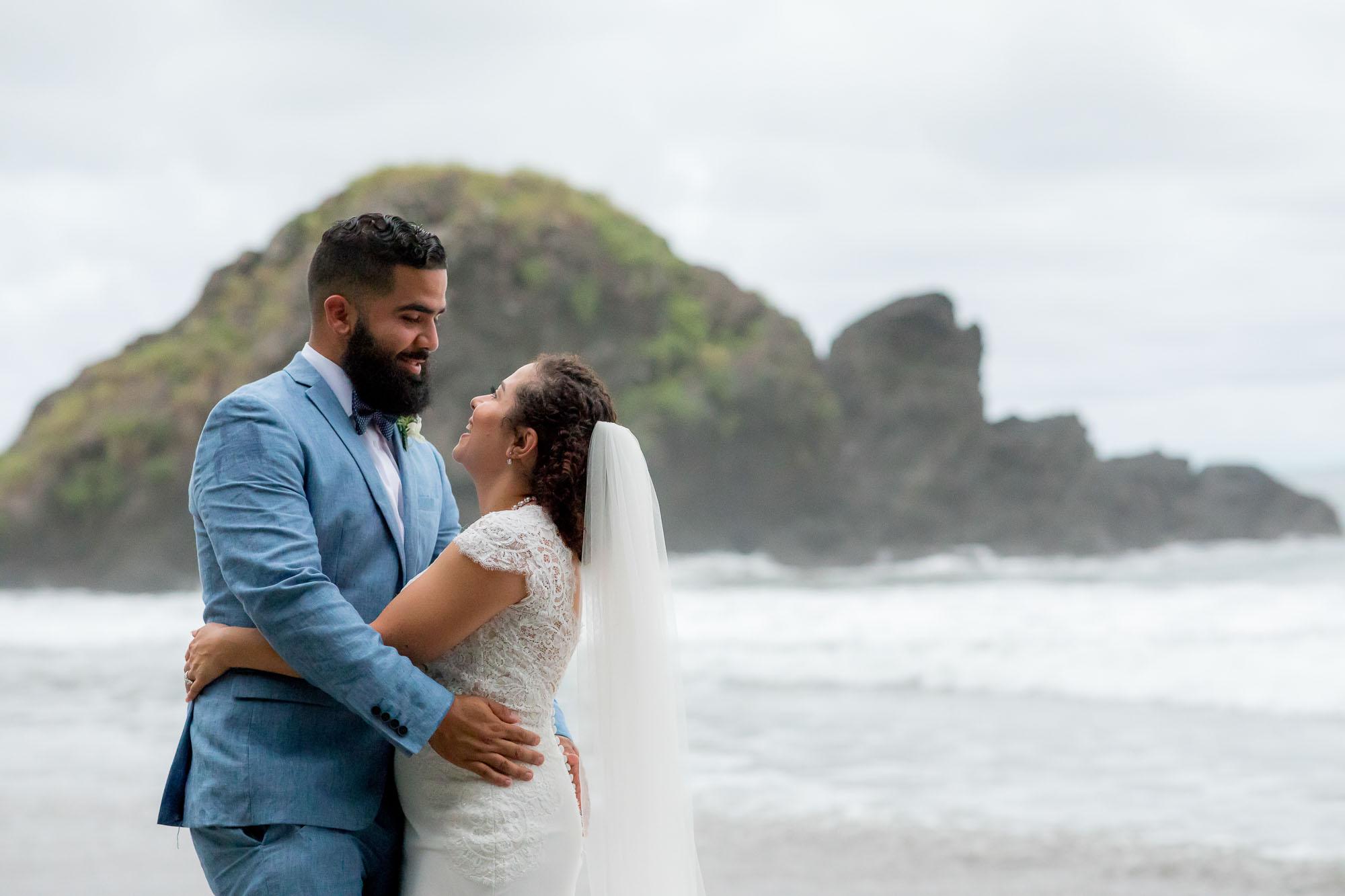 A dream destination wedding on the beach