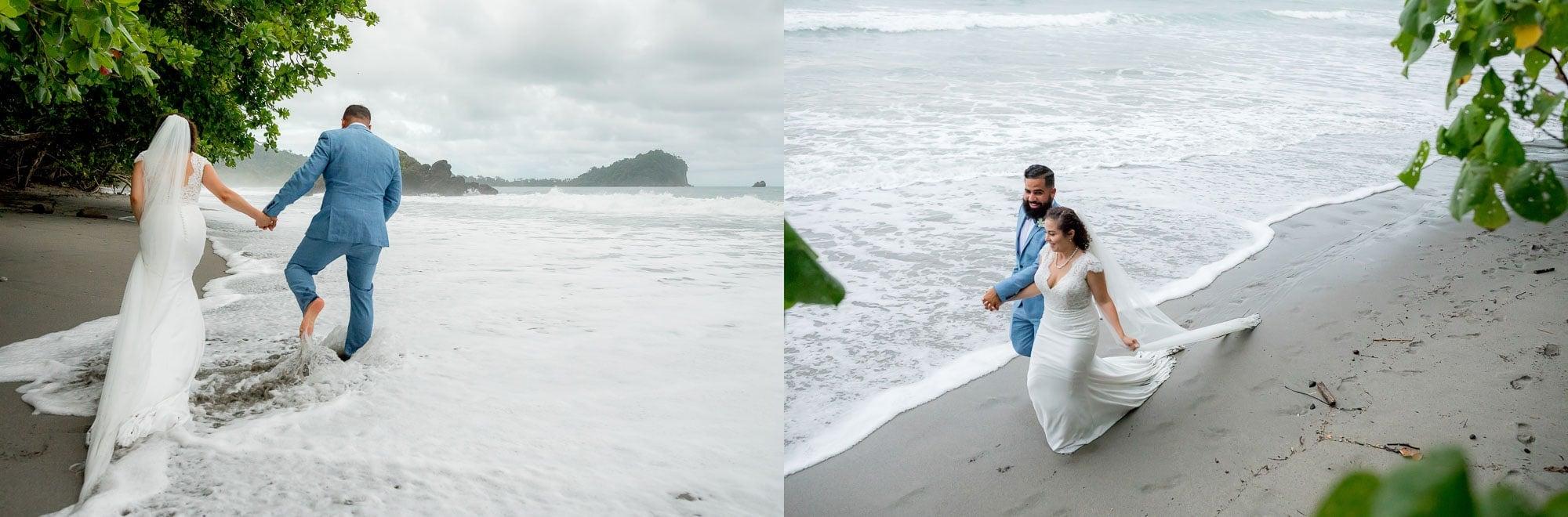 Dream destination wedding portraits on the beach