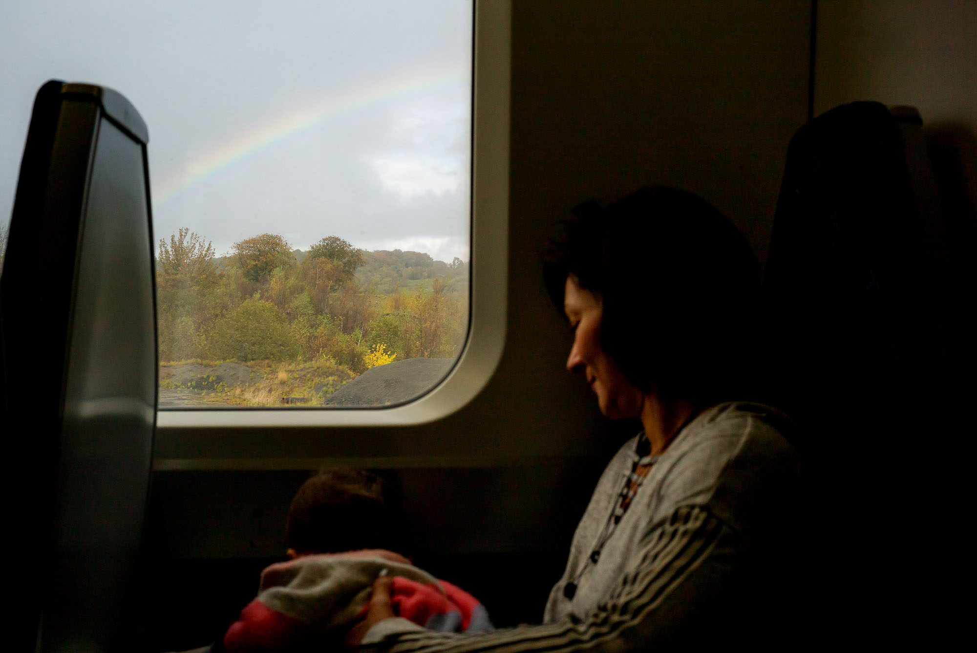 train rides in scotland with rainbow