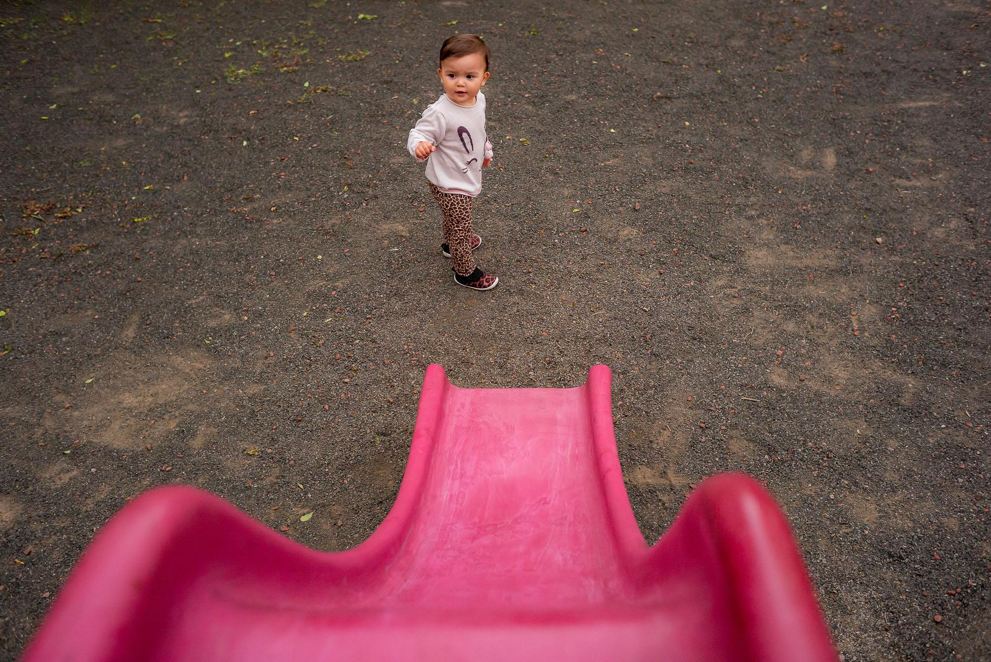 baby near slide