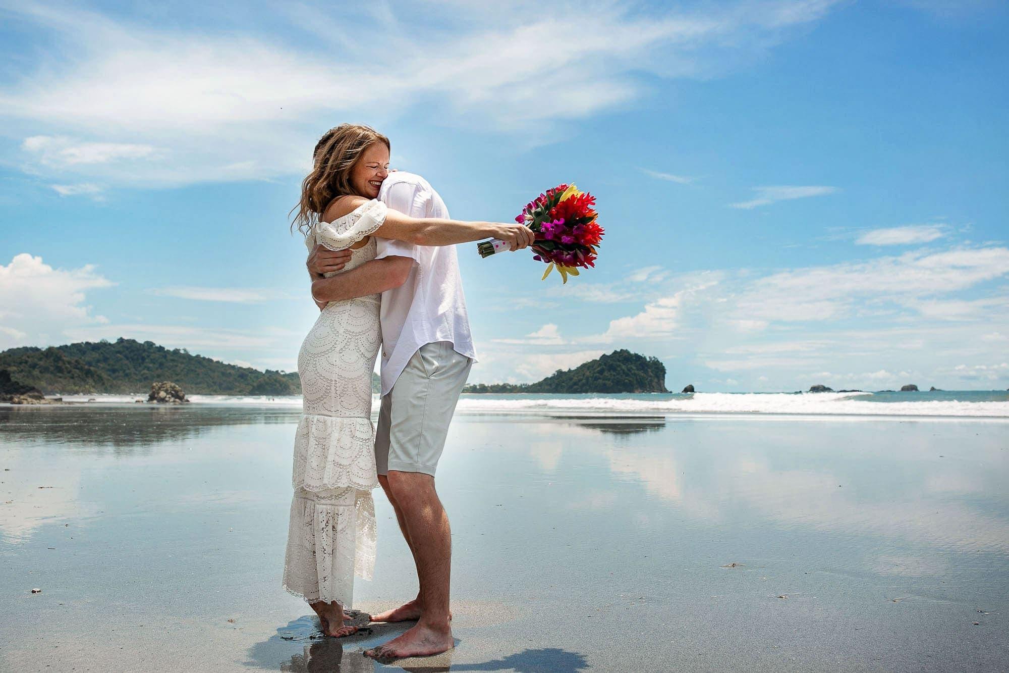 happy bride costa rica