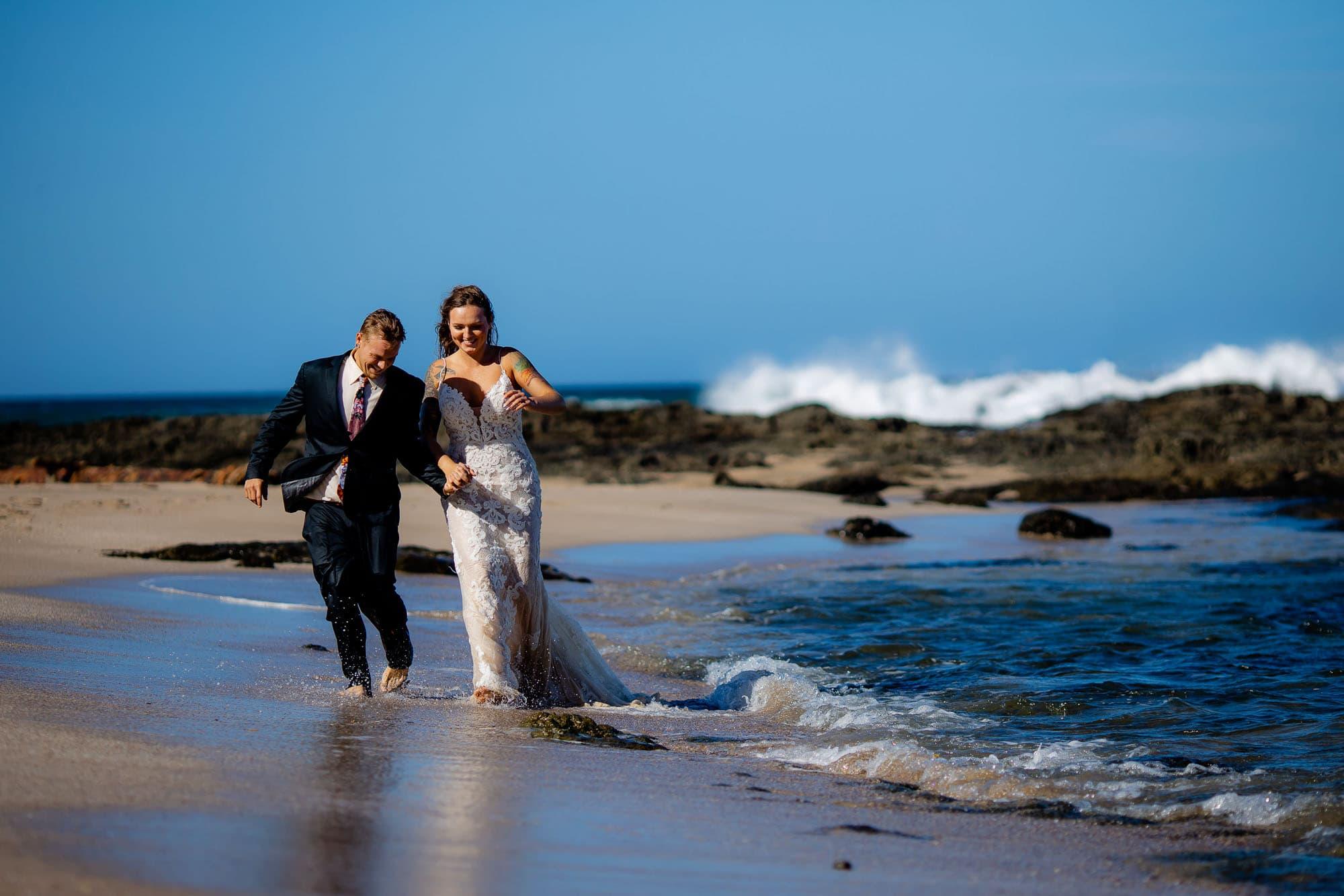 Destination wedding at Playa Langosta Costa Rica.