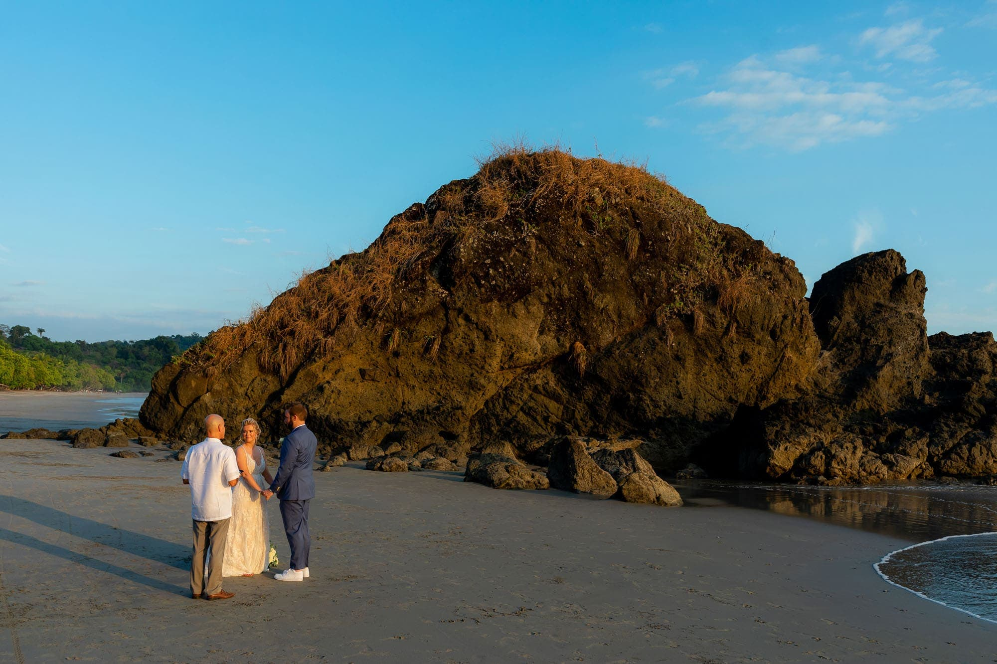 "A ""just the two of us"" ceremony on the beach"