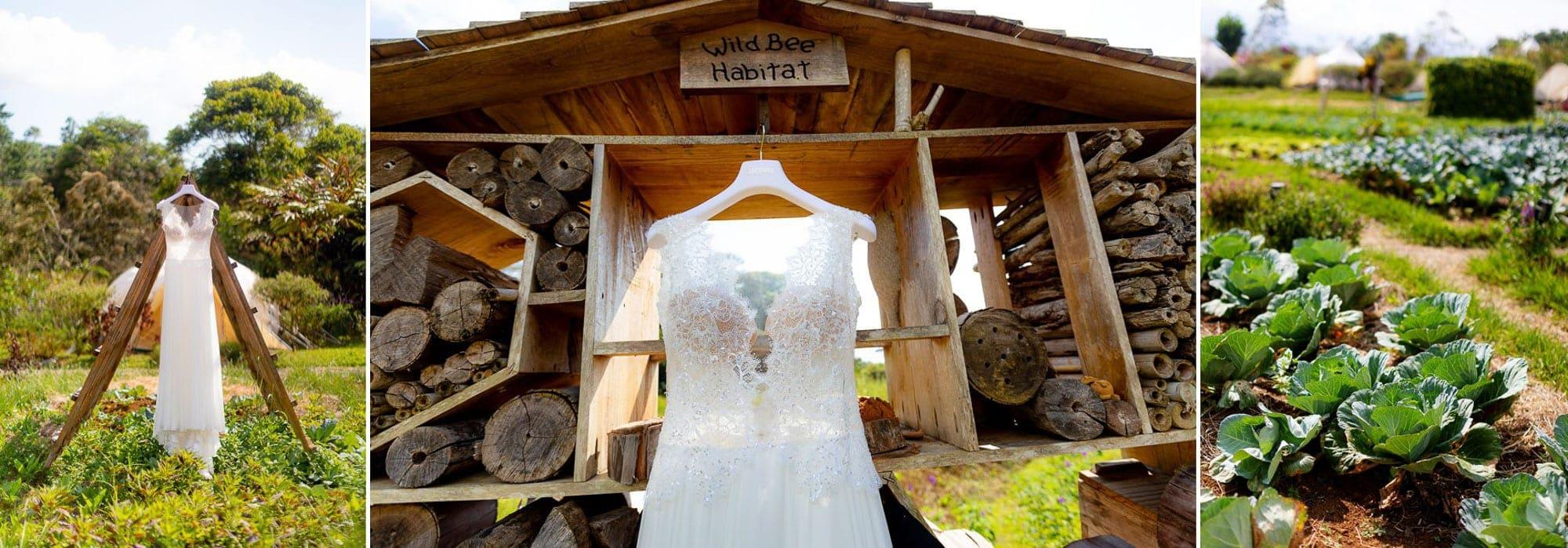 The dress on display