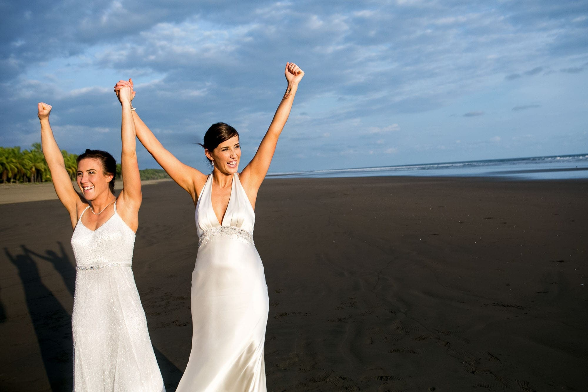 two brides at same sex wedding in Costa Rica