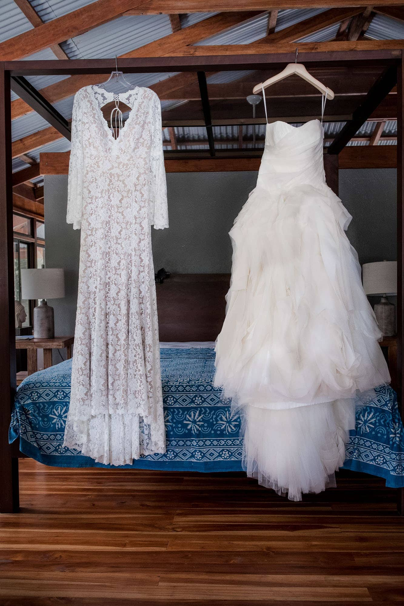 two bride dresses