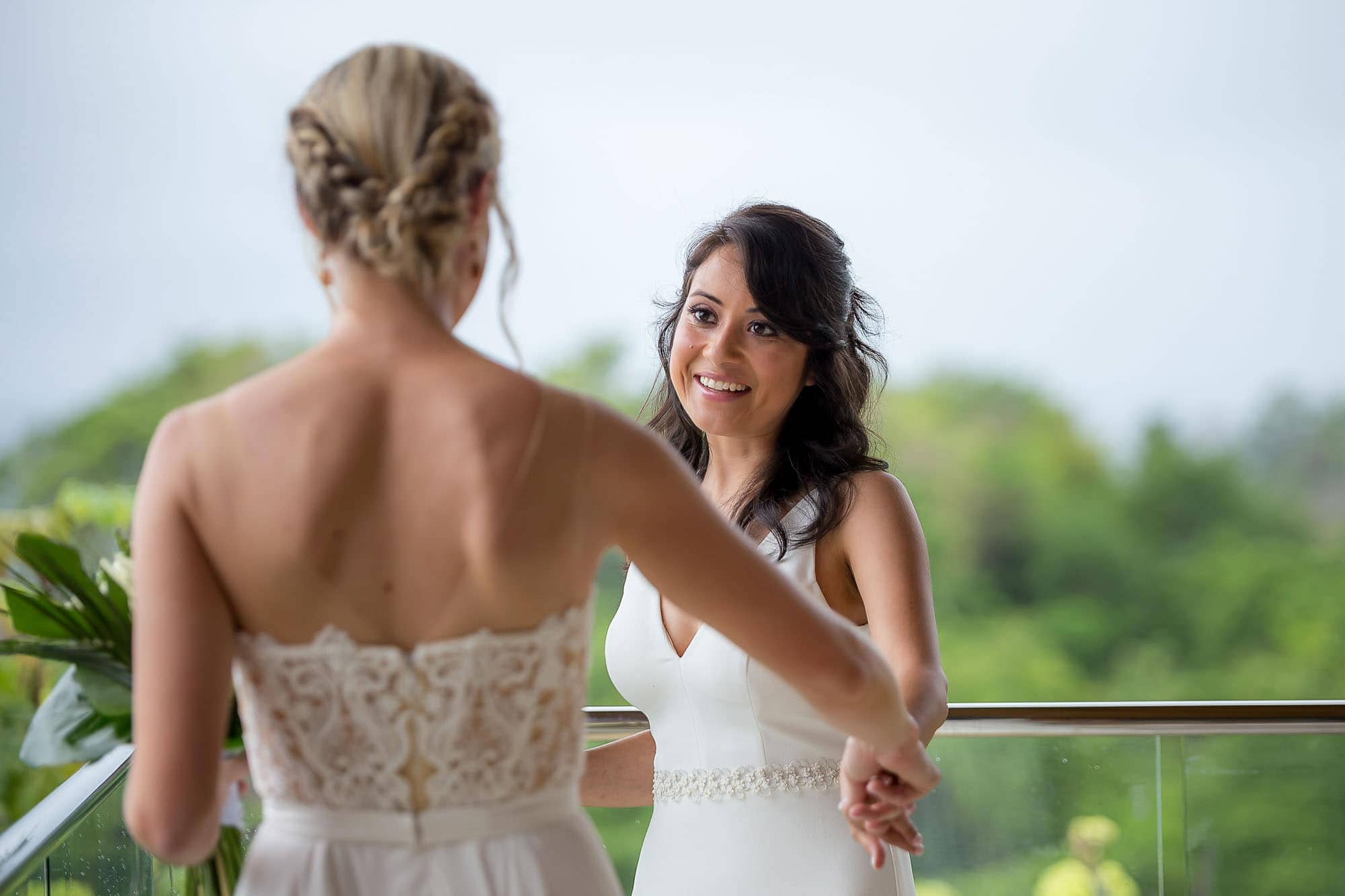 brides see each other before wedding