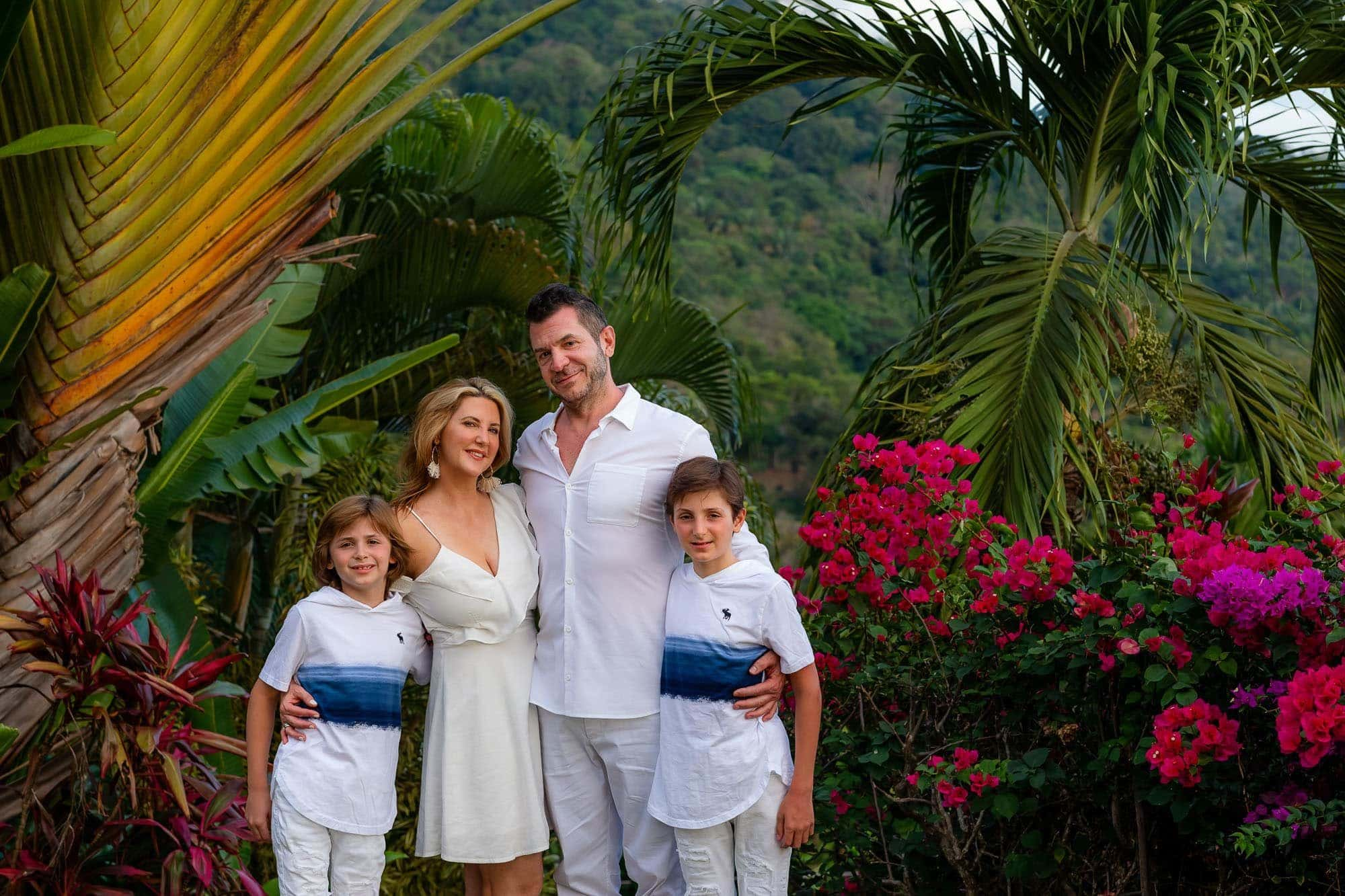 family has professional photos taken in dominical