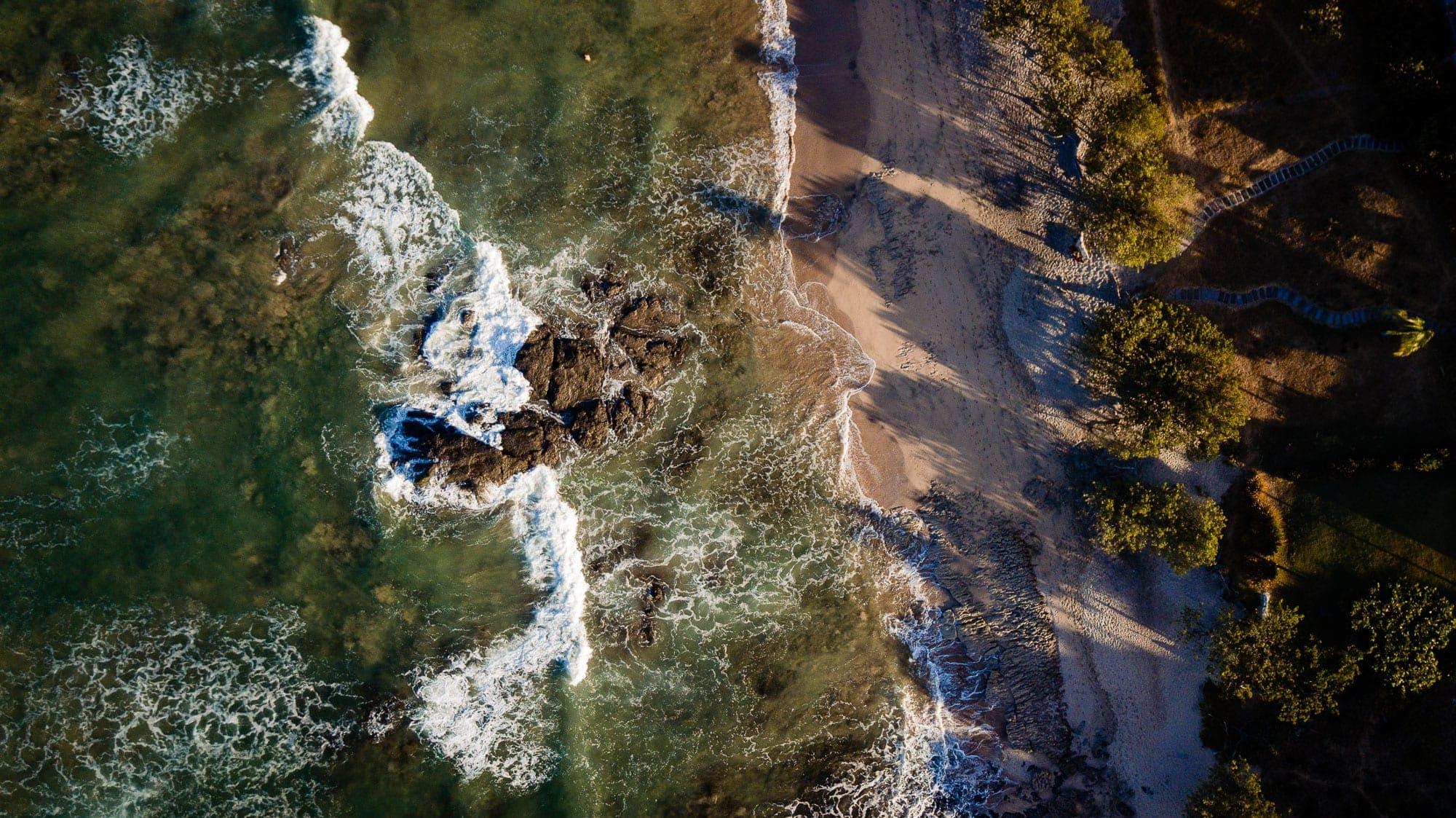 Overhead view of Langosta Beach
