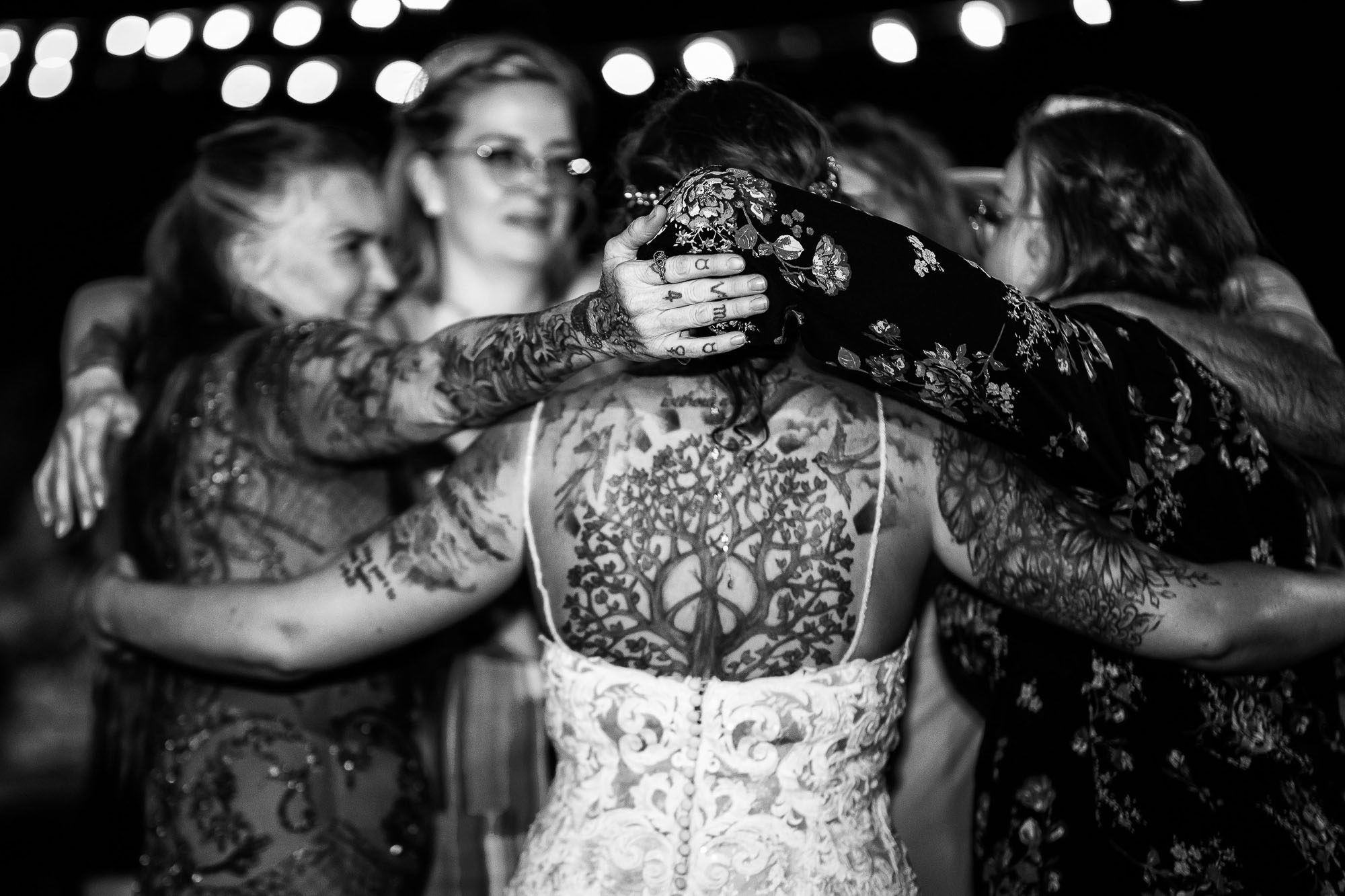 Dancing with the tattooed bride