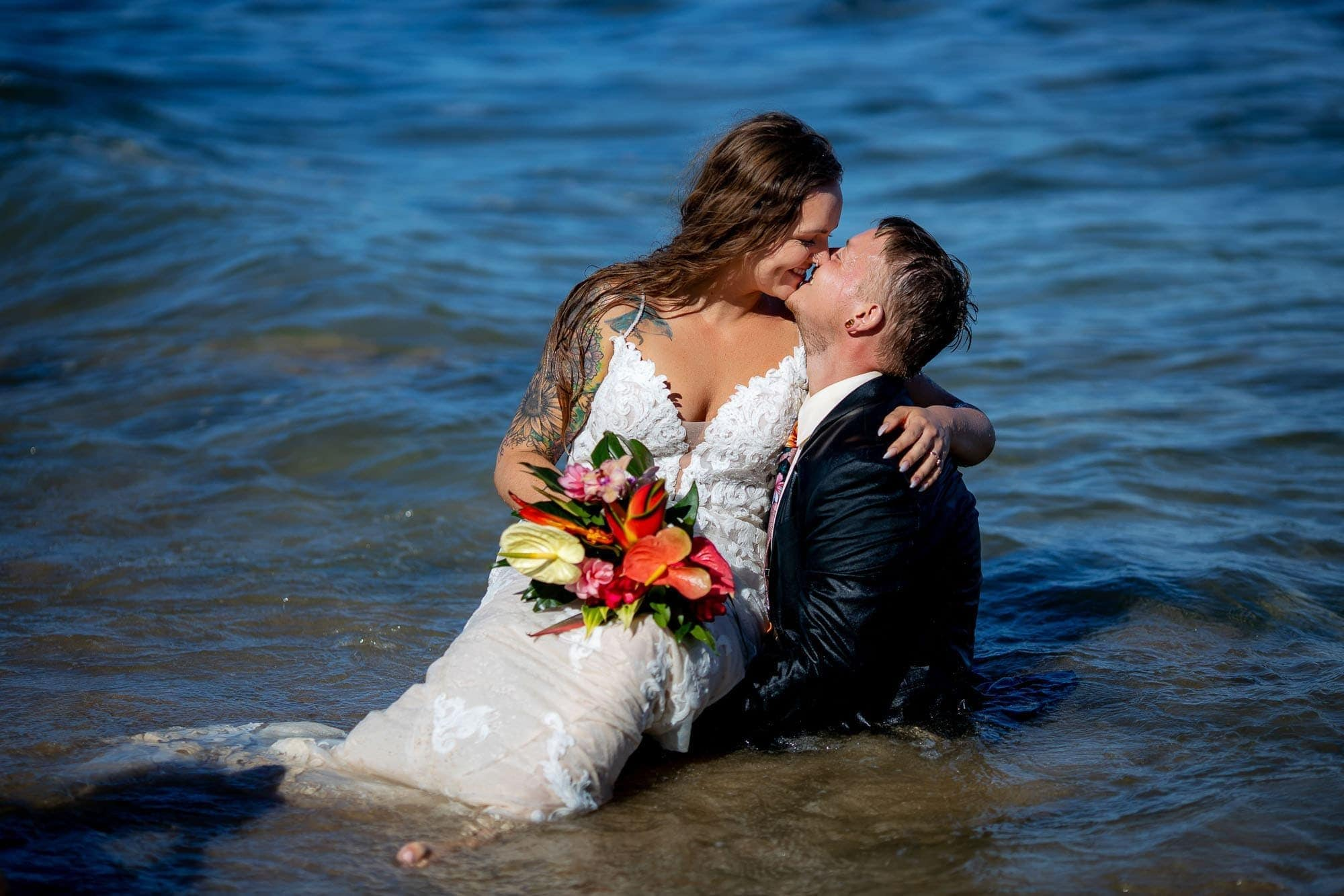 The tattooed bride and groom for their day after session