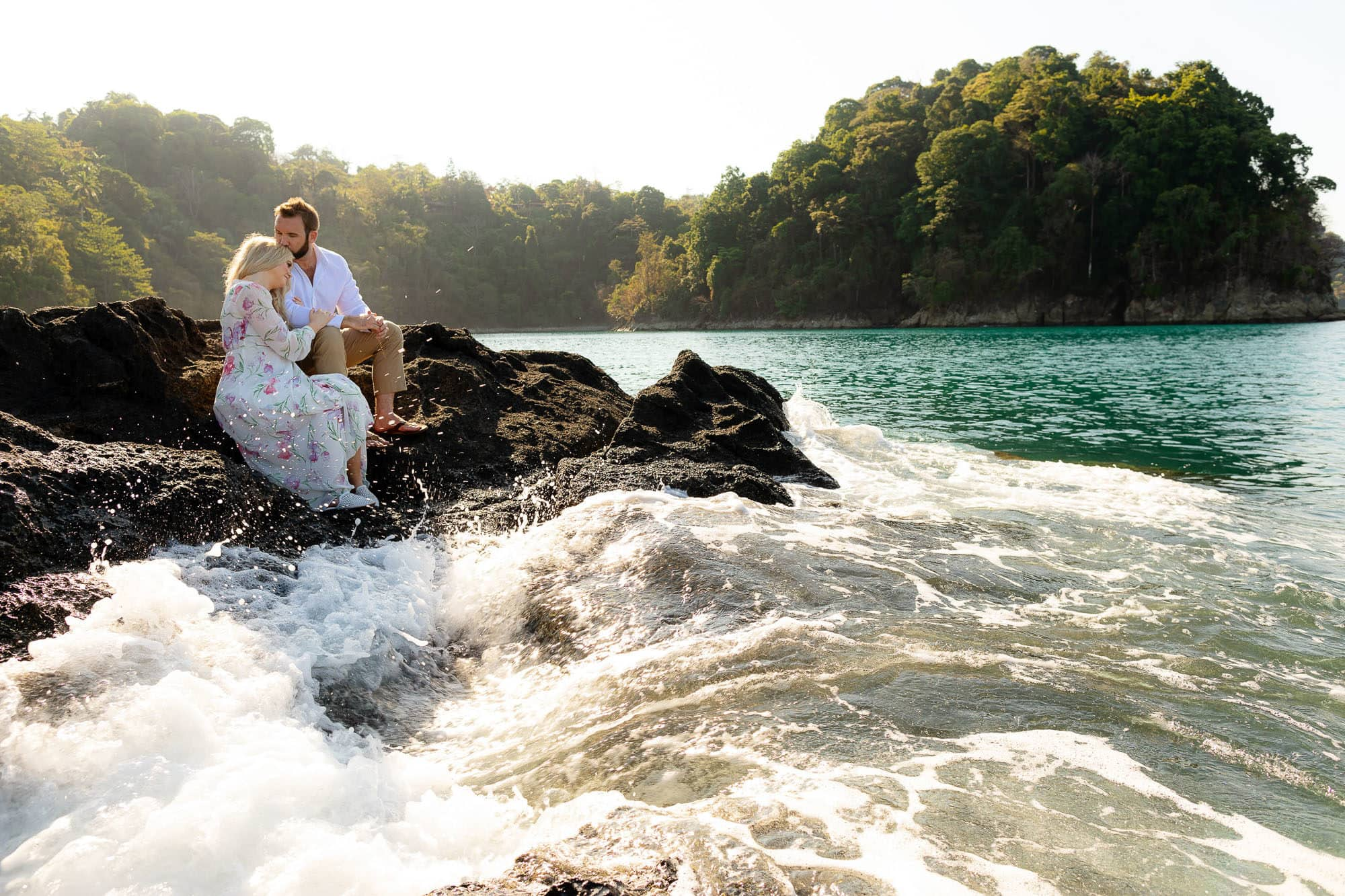 by the water for couple's photos