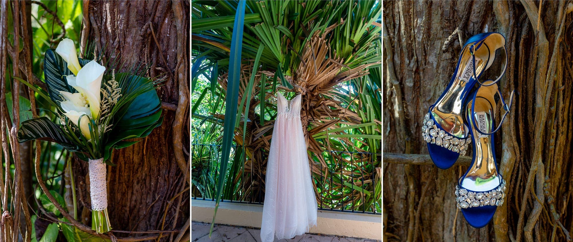 details of a wedding in the jungle at Doce Lunas